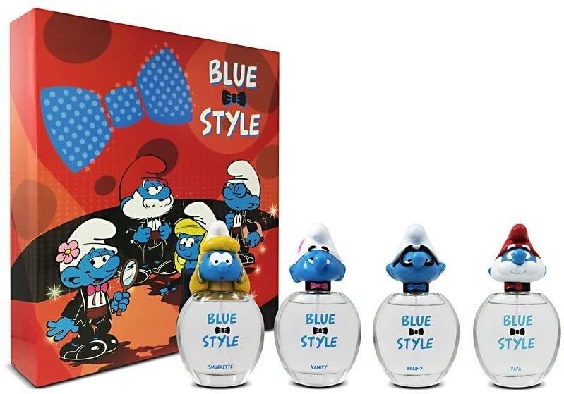 Blue Style The Smurfs 3D zestaw wód toaletowych dla dzieci 4x50ml