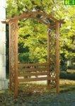 Pergola drewniana z ławką OMEGA SEAT 240x180x60