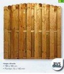 D16 drewniany płot sztachetowy z łukiem (180x180)