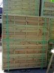 Płot lamelowy prosty 180 x 200