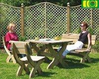 Komplet mebli ogrodowych  stół prostokątny