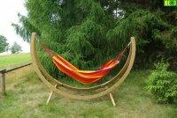 Drewniany Hamak ogrodowy -  komplet