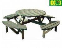 Stół  drewniany do ogrodu Burington 6-8 osób