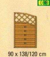 Zakończenie Do płotu z  podwójnym łukiem 90x160/90