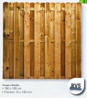 Drewniany plot sztachetowy 180 x 180 -D15