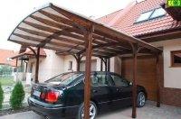 Drewniany garaż na 1 auto - carport