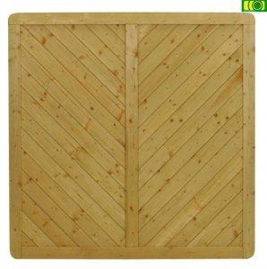 B02 drewniany płot boazeryjny prosty (180x180)