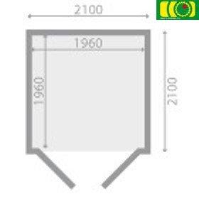 DM4 drewniany domek ogrodowy OGNIK (210/210)