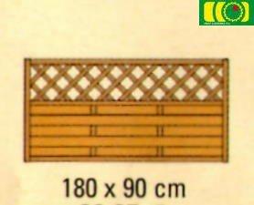 L31 płot lamelowy z kratką prosty (180x90)