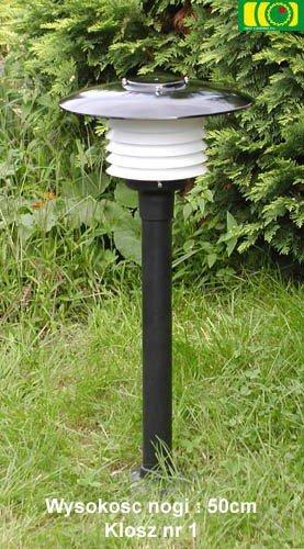 Lampa ogrodowa 65cm z kloszem
