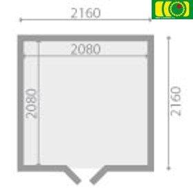 DM13 drewniany domek ogrodowy BAŁWATEK 2 (200/200)