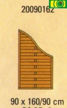 ZL1 zakończenie do płotu pełnego (90x160/90)
