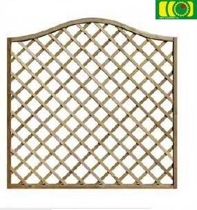 KR17  kratka ogrodowa z łukiem fala (180x180)