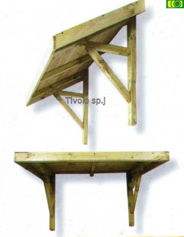 W06 drewniane zadaszenie STANDARD