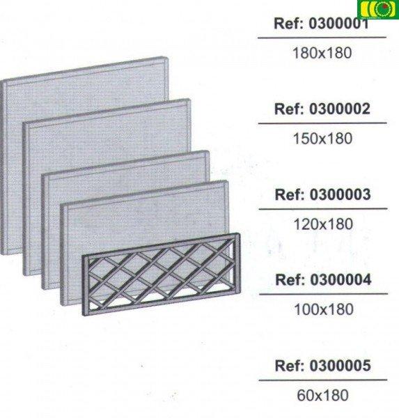 KR10 kratka drewniana w ramie prosta (100x180)