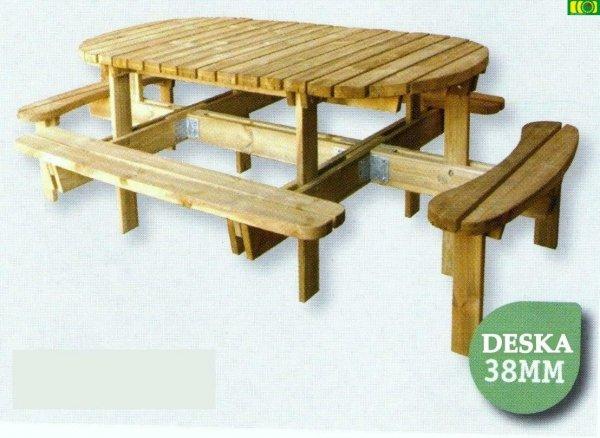 Drewniany stół ogrodowy ARKA