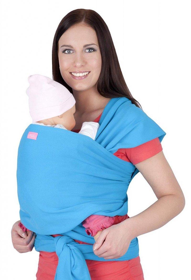 MijaCulture - chusta do noszenia dzieci 4011/M28 turkus