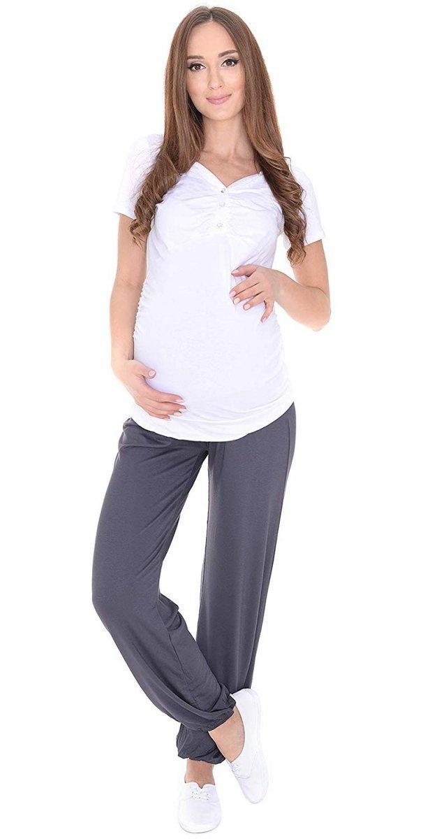 MijaCulture – alladynki ciążowe wiskoza 4069/M58 szary