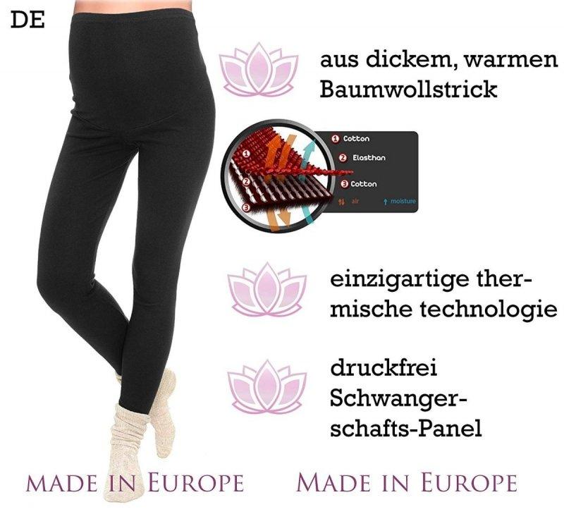 Komfortowe legginsy ciążowe zimowe 3006 grafit