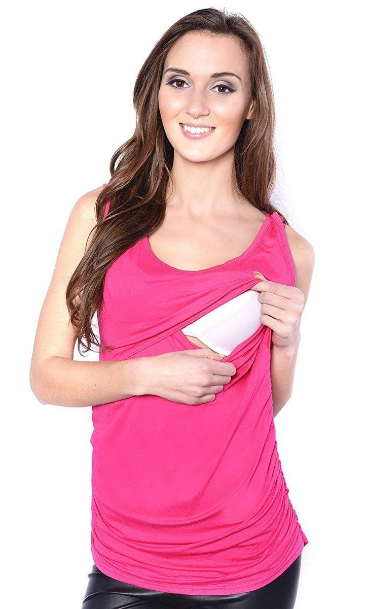 MijaCulture - bluzka 2 w 1 ciążowa i do karmienia M15/3093 różowy