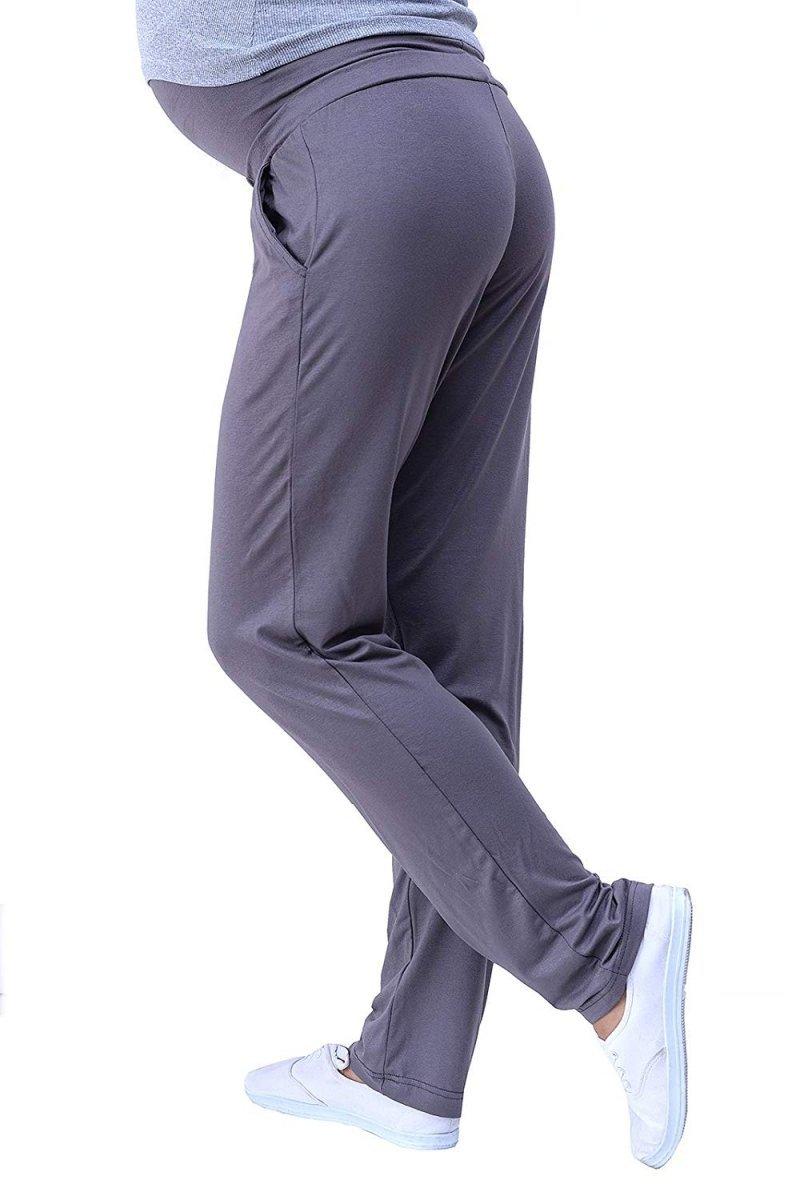 MijaCulture - spodnie viskozowe 4092/M53 grafit