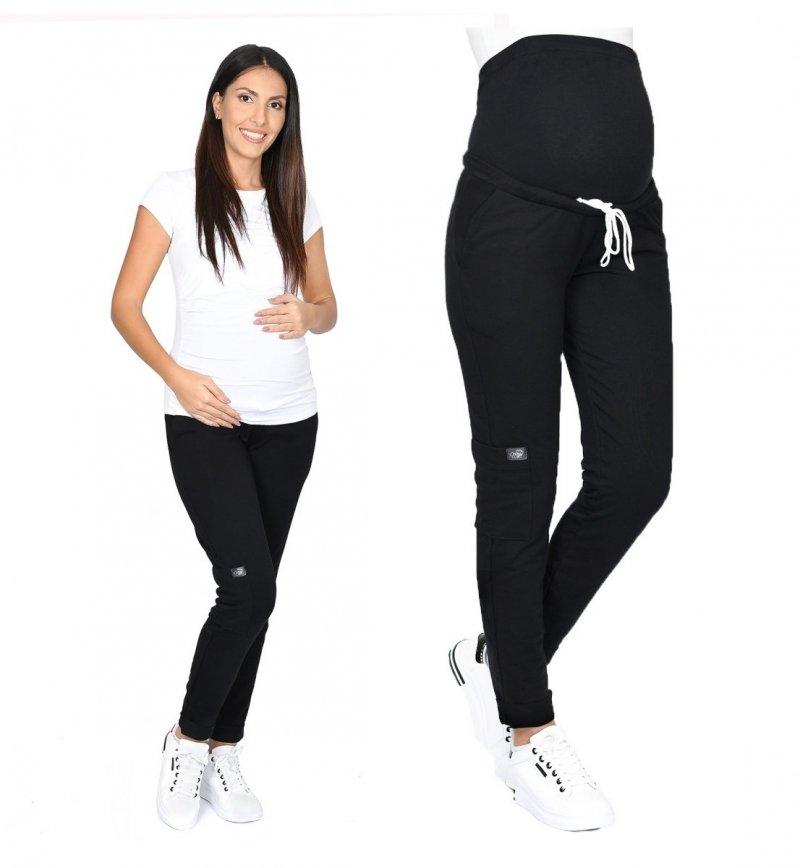 MijaCulture Wygodne spodnie dresowe ciążowe ZOE M002 czarny