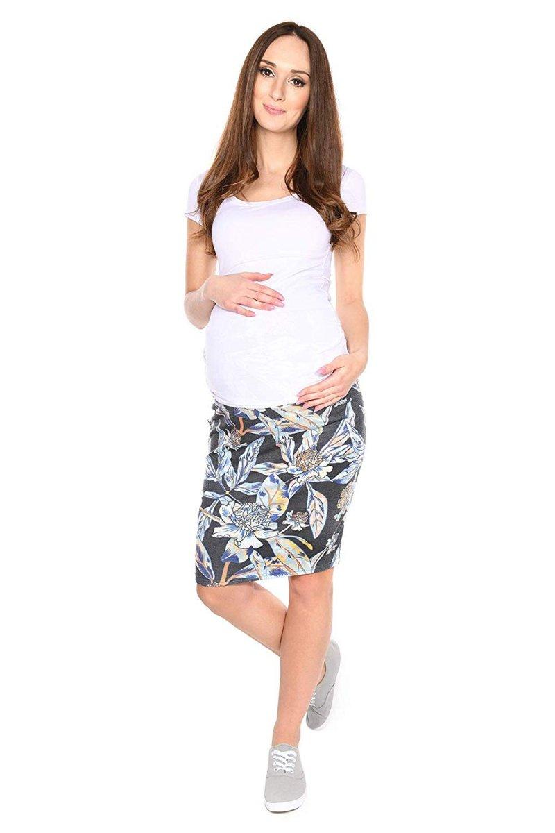 """Zjawiskowa spódnica dla kobiet w ciąży """"Gery"""" 7148 kwiaty"""