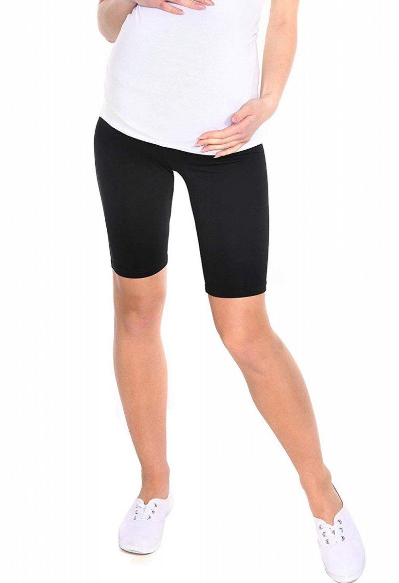 Wygodne legginsy ciążowe Mama 1052 czarny