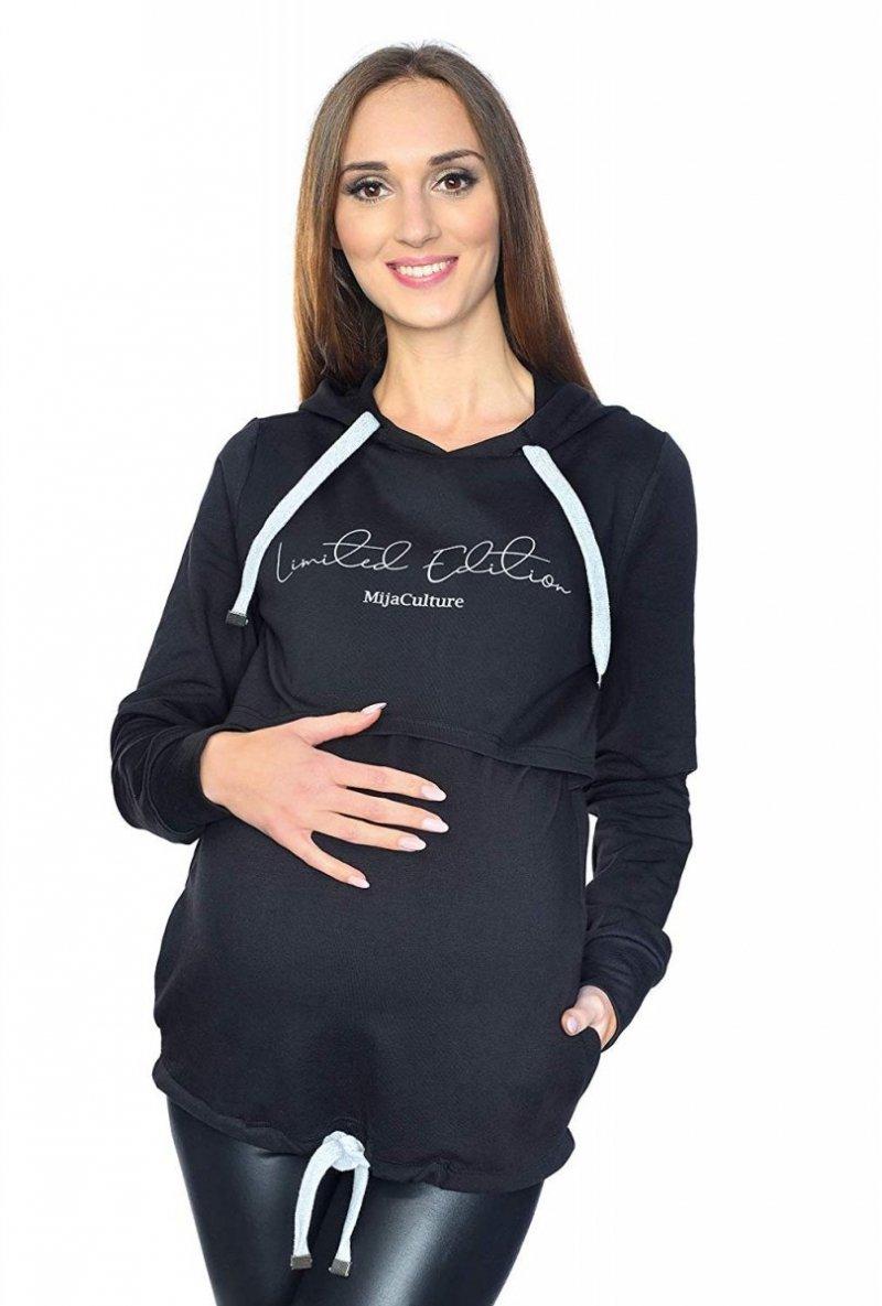 MijaCulture - 3 w 1 bluza ciążowa i do karmienia M68 4110 czarny Limited Edition front