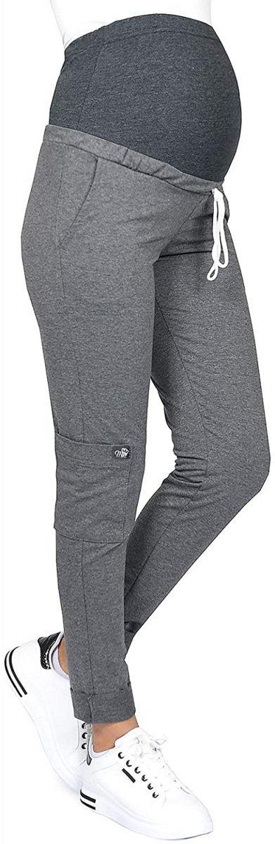MijaCulture Wygodne spodnie dresowe ciążowe ZOE M002 grafit1