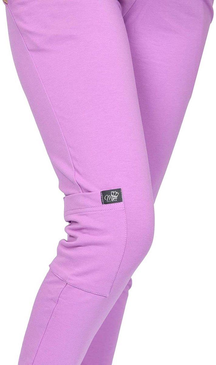 MijaCulture Wygodne spodnie dresowe ciążowe ZOE M002 róż5