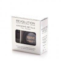 Makeup Revolution Awesome Metals Foil Finish Cień do powiek metaliczny+podkład Black Diamond 6g - WYSYŁKA 24h