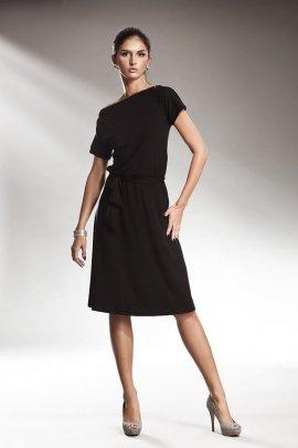 Subtelna sukienka z zamkiem - czarny - S13