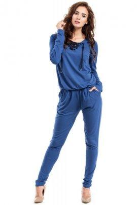 MOE241 Kombinezon wiskoza jeansowy