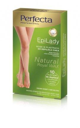 Dax Cosmetics Perfecta EpiLady Wosk do depilacji ciała w plastrach  1op.-10szt
