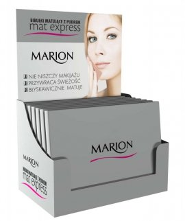 Marion Bibułki matujące z pudrem do twarzy Zestaw 4szt+1 gratis