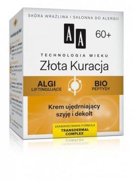 AA Technologia Wieku 60+ Złota Kuracja Krem ujędrniający szyję i dekolt 50ml