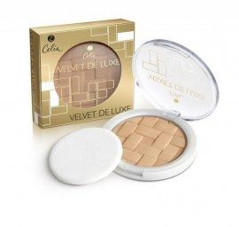 Celia Puder prasowany Velvet de Luxe nr 101 transparent beige  1szt