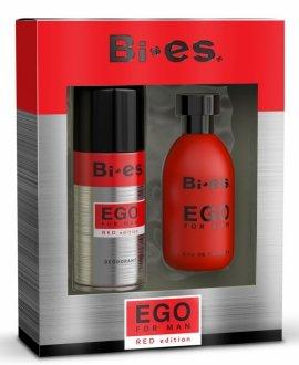Bi-es Ego Red Komplet (woda toaletowa 100ml + dezodorant 150ml)