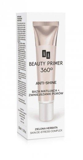 AA Beauty Primer 360 Baza pod makijaż Anti-Shine matująca i zmniejszająca pory  30ml