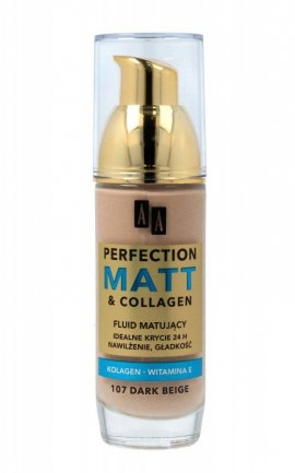 AA Make Up Perfection Matt & Collagen Fluid nr 107 Dark Beige  35ml