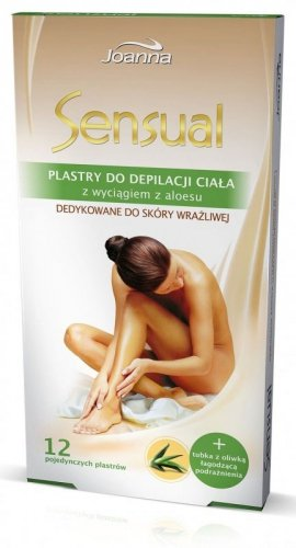 Joanna Sensual Plastry do depilacji ciała Aloes  1op.(12szt)
