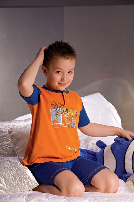 Piccolo Meva Piżamka chłopięca Filip 2972 granatowo-pomarańczowa