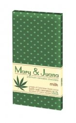 Czekolada mleczna Mary & Juana z łuskanym ziarnem konopi 80g