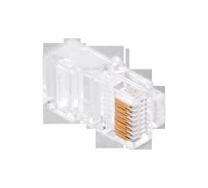 Wtyk telefon.  RJ45  8P 8C(drut)przelotowy CAT.5E