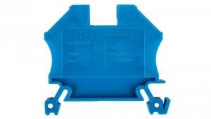 Złączka szynowa gwintowa ZSG ( ZUG ) 6,0mm2 niebieska mini 43407BL