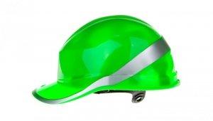 Hełm budowlany zielony z ABS, rozmiar regulowany DIAM5VEFL