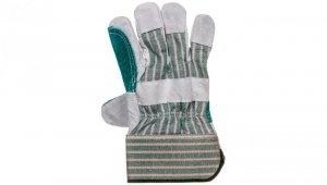 Rękawice robocze dwoina bydlęca szara rozmiar 10,5 cala 83S112
