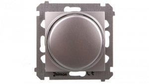 Simon 54 Premium Ściemniacz obrotowy do LED ściemnialnych 230 V 2–250 W srebrny mat DS9L.01/43