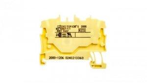 Złączka szynowa 2-przewodowa 1,0mm2 żółta 2000-1206 TOPJOBS